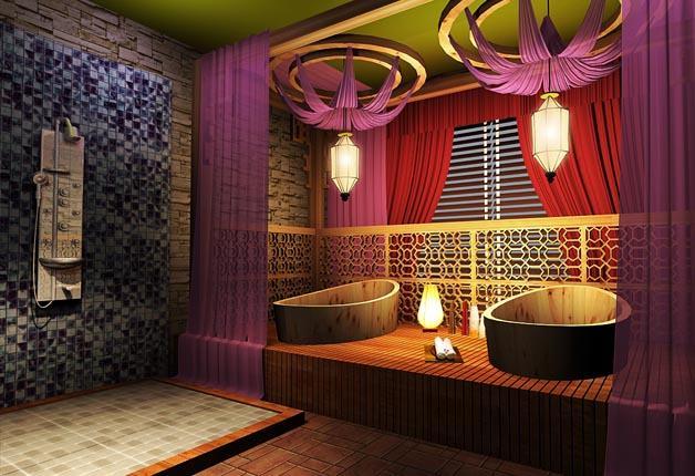 武汉美容院室内装修设计公司图片