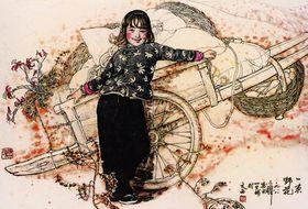 刘文西是我国农民题材创作的第一人,刘文西作品价格查看原图(点击放大)