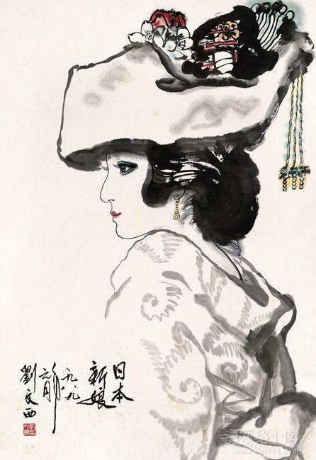 """刘文西被誉为中国""""农民""""画家大师,刘文西作品收购"""