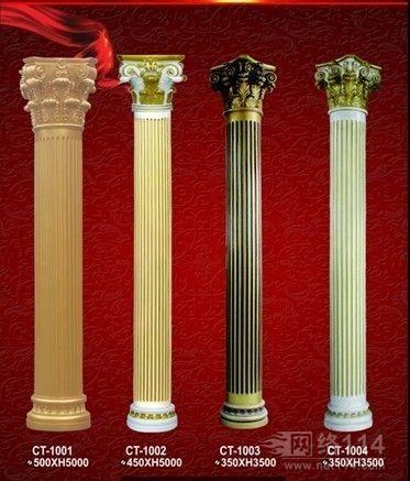 广东专业玻璃钢装饰罗马柱雕塑