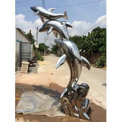 广州景观雕塑不锈钢雕塑城市雕塑海豚金属雕塑厂家