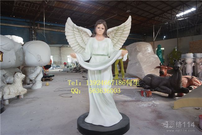 玻璃钢纤维教堂耶稣人物雕塑图片纤维人物模型制作工厂
