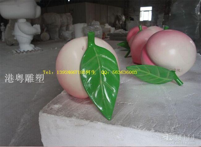 大型水果蟠桃造型雕塑