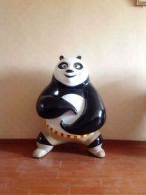 定制功夫熊猫摆设玻璃钢雕塑查看原图(点击放大)