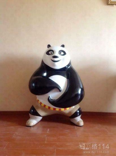 功夫熊猫卡通玻璃钢雕塑制作