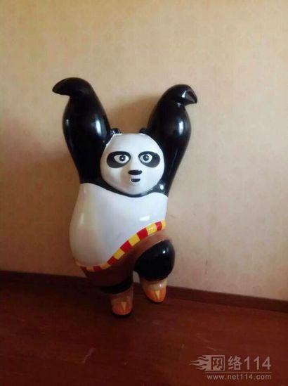 纤维定制功夫熊猫摆设玻璃钢雕塑