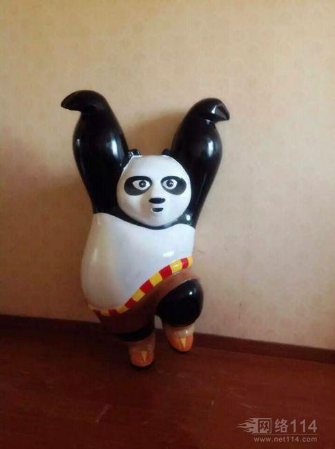 电影功夫熊猫系列造型雕塑【玻璃钢卡通纤维雕塑】