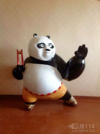 功夫熊猫3蛇雕塑【玻璃钢卡通纤维雕塑】