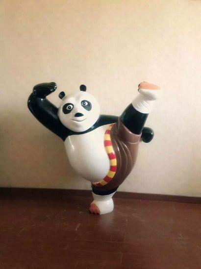 新版功夫熊猫玻璃钢雕塑