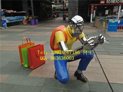 商业街景观人像雕塑   购物人像雕塑厂家