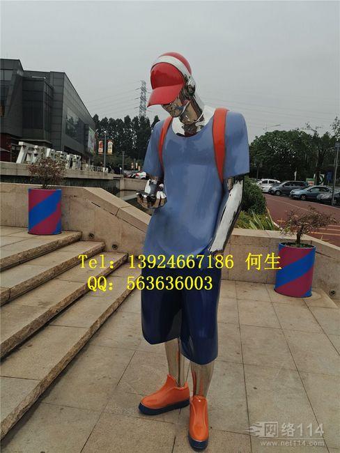 深圳休闲娱乐广场人像雕塑【玻璃钢纤维造型雕塑】