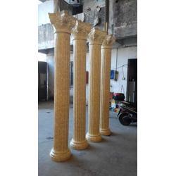 仿大理石立柱玻璃钢罗马柱广州酒店装饰立柱厂家