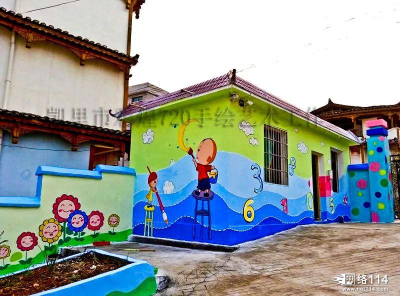 贵州文化墙墙体彩绘_【贵州黔东南凯里幼儿园墙体彩绘壁画手绘卡通图片素材价格 ...