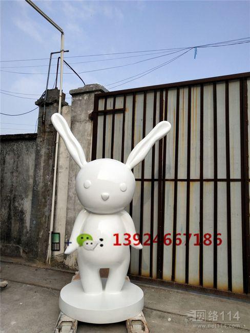 纤维卡通兔子造型制作玻璃钢形象卡通兔