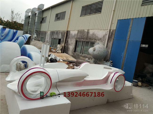 玻璃纤维汽车模型制作大型玻璃钢跑车造型雕塑