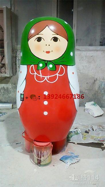 俄罗斯彩绘娃娃雕塑玻璃纤维娃娃公仔模型制作
