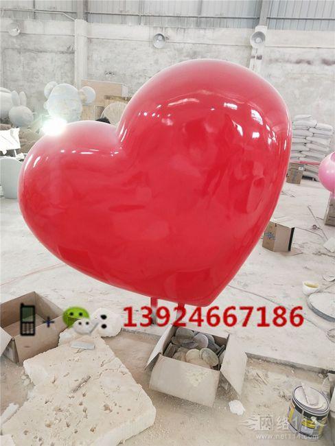 旅游区立体心形造型雕塑户外大型心形定做工厂
