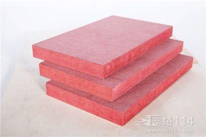 如何判断难燃中纤板好与坏,红色防火密度板