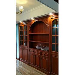 长沙实木整体家具装修经验、实木书柜、储物柜定制专业服务