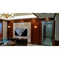 长沙实木欧式家具刷清漆好、实木鞋柜、背景墙订做厂家质检