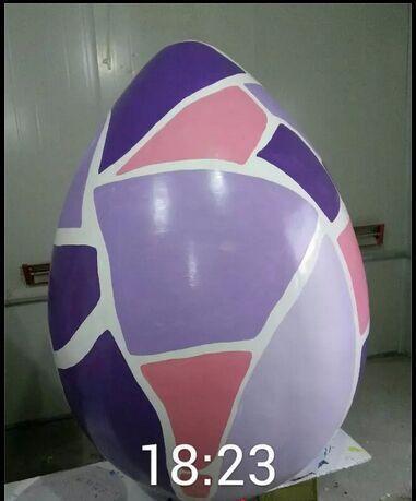 巨型彩蛋玻璃钢雕塑【玻璃钢纤维造型雕塑】