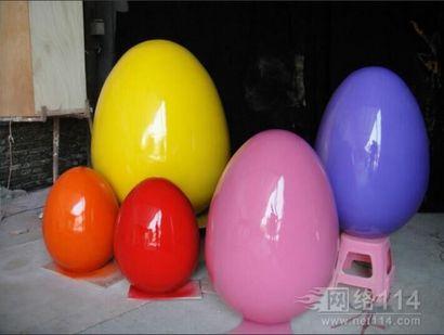 复活节纤维彩蛋雕塑【玻璃钢纤维造型雕塑】