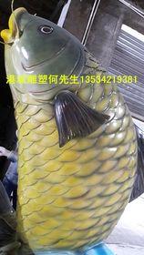 深圳仿真海产品鲤鱼雕塑 玻璃钢淡水鱼雕塑查看原图(点击放大)