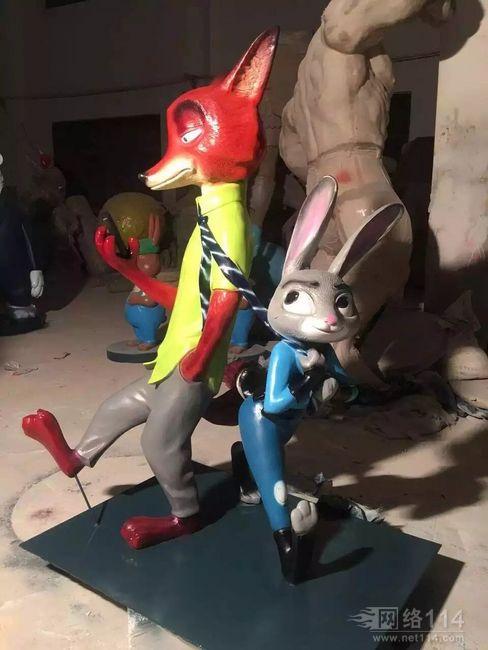 疯狂动物城之兔子朱迪【玻璃钢卡通纤维雕塑】