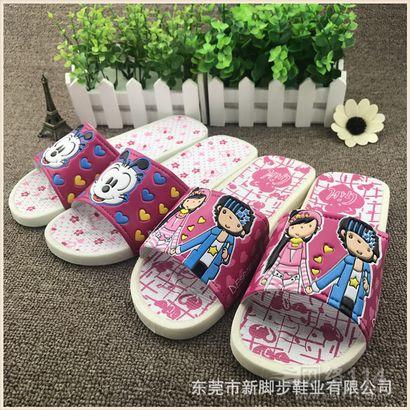 女款韩国糖果色浴室拖鞋