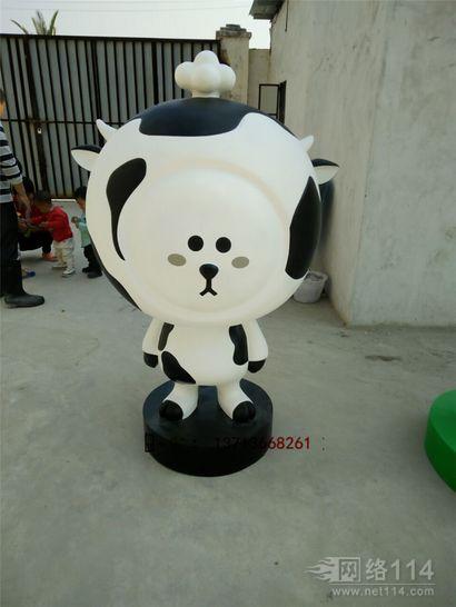 上海品牌形象卡通雕塑定做卡通奶牛模型制作