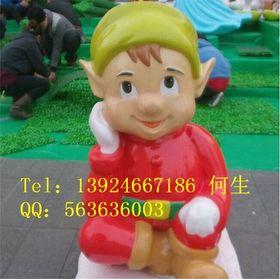 小男孩小妖精雕塑【玻璃钢卡通纤维雕塑】查看原图(点击放大)