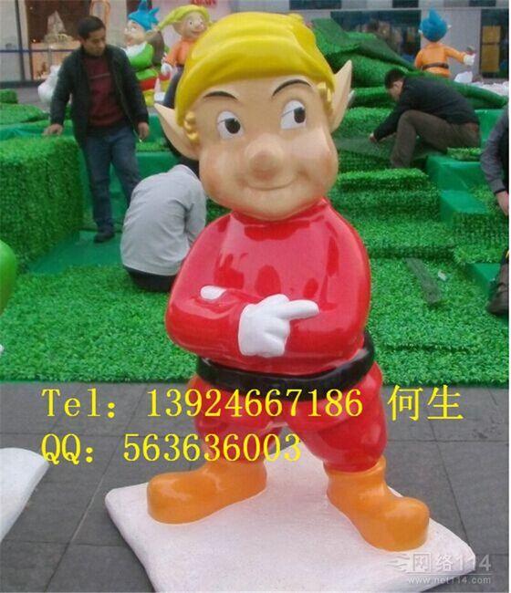 纤维圣诞节卡通雕塑圣诞节模型制作工厂价格