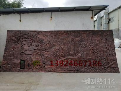 汕头学校文化背景墙玻璃钢长城图案浮雕定做