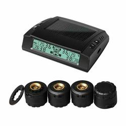 太阳能充电无线胎压监测器内/外置TPMS胎压监测仪