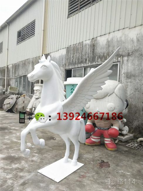 品牌商店美陈装饰飞马玻璃纤维飞马模型制作