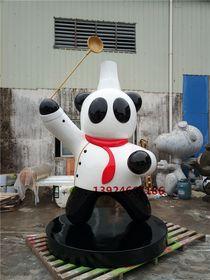 茶餐厅形象卡通厨师造型雕塑纤维厨师公仔形象定做查看原图(点击放大)