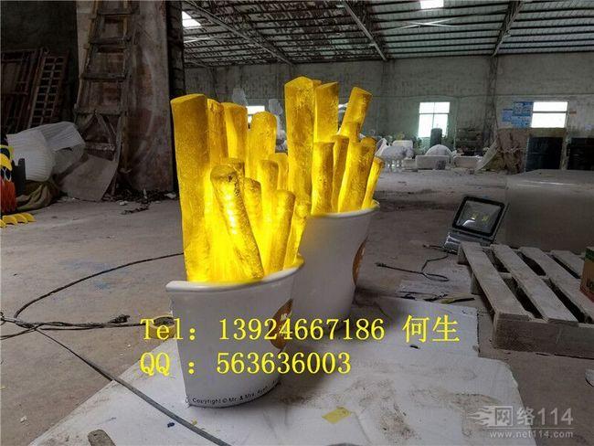 快餐薯条造型雕塑【玻璃钢造型纤维雕塑】