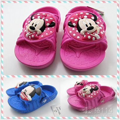 浴室防滑米奇儿童拖鞋