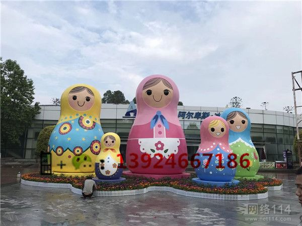 吉祥物套娃模型制作玻璃钢大型套娃公仔生产工厂