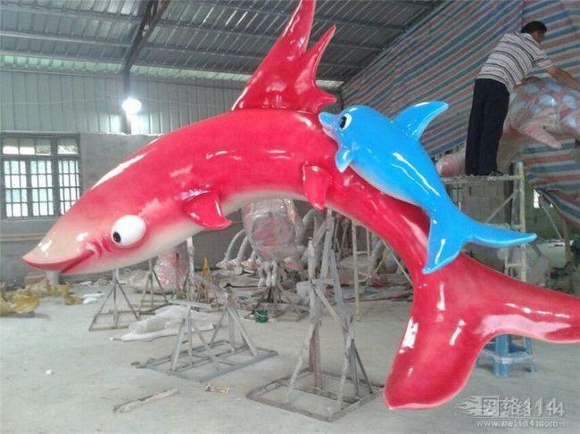 景观玻璃钢海洋生物雕塑