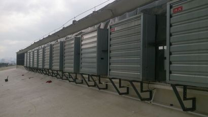 Energy-saving water-cooled air conditioner in Liuzhou supermarket plant in Guangxi