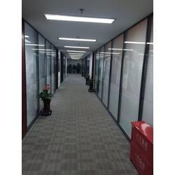玻璃屏风隔断墙办公室高隔断铝合金百叶窗成品双层钢化玻璃间