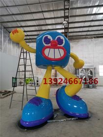 四川成都商场美陈IP卡通展览雕塑工厂骰子卡通造型雕塑查看原图(点击放大)