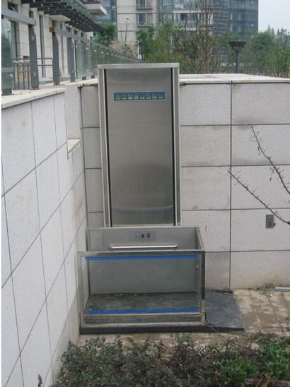 单柱式铝合金的升降机价格,无障碍升降平台,广州升降平台
