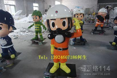 湛江商场美陈消防员卡通