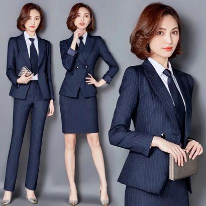 韩版修身气质女西装