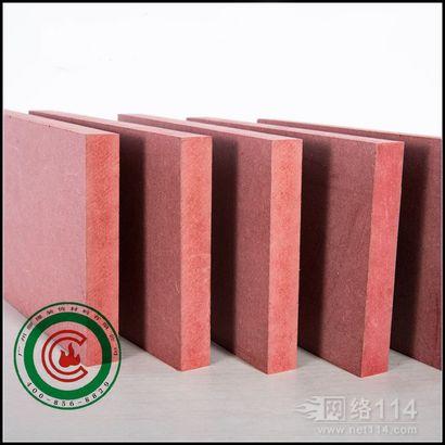 难燃密度板 B1级红色阻燃板推广 防火性能随时抽检密度板