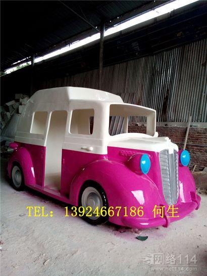 玻璃钢雪糕车雕塑纤维雪糕模型汽车制作