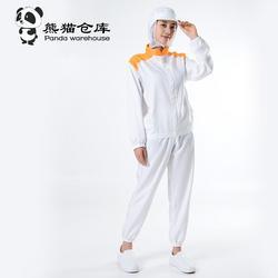 透气薄款白色食品厂工作服套装男工厂车间女无菌加工服夏季卫生服