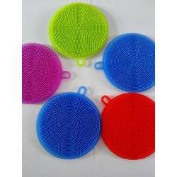 硅胶双面洗碗刷,圆形硅胶洗碗刷